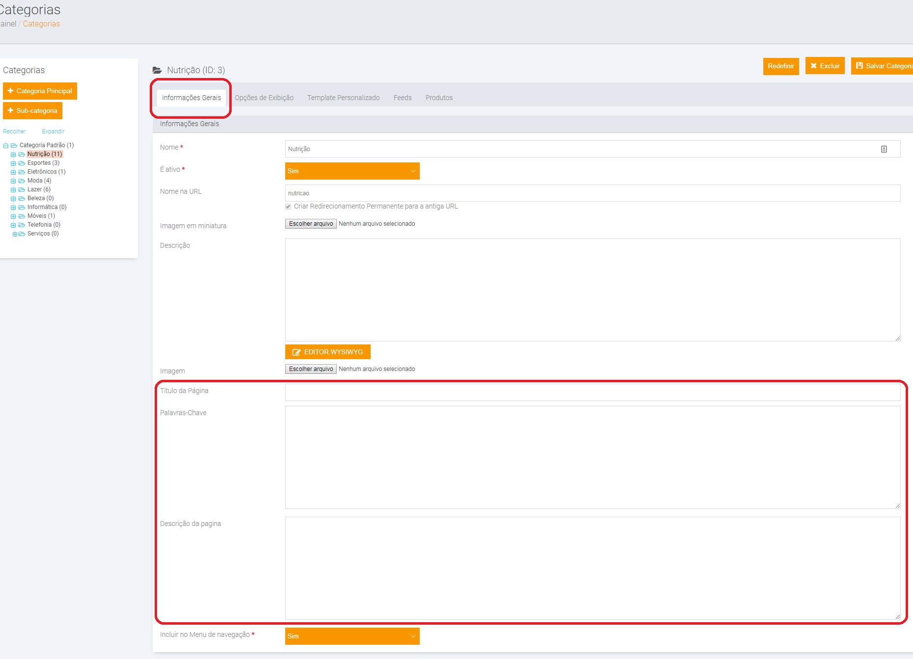 Configurando 'Meta Tags/Meta Informação' para melhoria de SEO